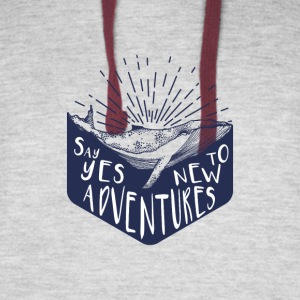 Adventure - Say yes to new adventure Products - Colorblock Hoodie