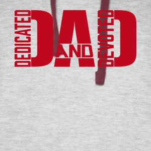 Father's day Dedicated and Devoted DAD Products - Colorblock Hoodie