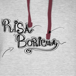 Risa Boricua Clothing and Accessories - Colorblock Hoodie