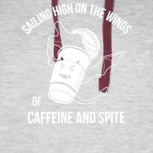 Caffeine And Spite - Colorblock Hoodie