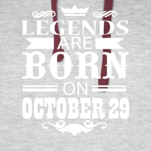 Legends are born on October 29 - Colorblock Hoodie