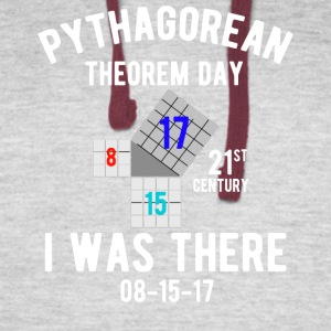 Pythagorean Triple Day 8/15/2017 T-shirt - Colorblock Hoodie