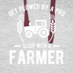 Get Plowed By A Pro Sleep With A Farmer - Colorblock Hoodie