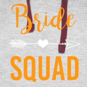 Bachelorette Party Shirts Bridesmaids Bride Squad - Colorblock Hoodie