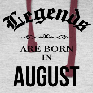 Birthday Legends are born in August - Colorblock Hoodie
