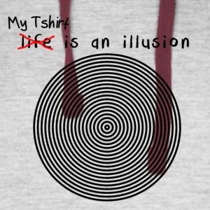 Funny Illusion_Tshirt - Colorblock Hoodie