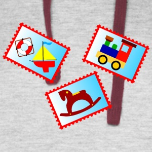 stamps with toys - Colorblock Hoodie