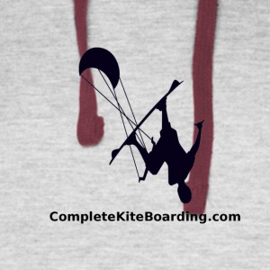 COMPLETE_KITE_BOARDING_kiter_b_and_w_gif - Colorblock Hoodie