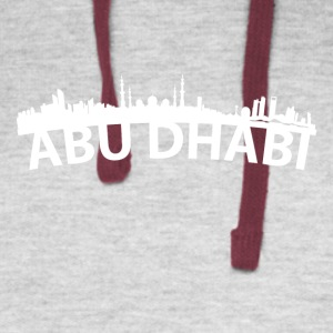 Arc Skyline Of Abu Dhabi United Arab Emirates - Colorblock Hoodie