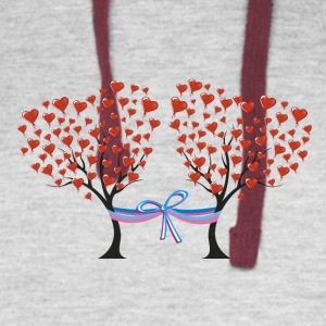 love and marriage - Colorblock Hoodie
