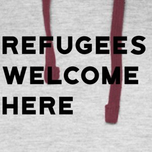 Refugees Welcome Here - Colorblock Hoodie