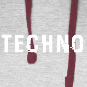 Techno Hacked White - Colorblock Hoodie