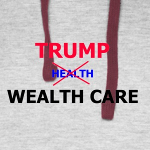 Trump Wealth Care - Colorblock Hoodie