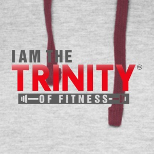 I AM THE TRINITY OF FITNESS - Colorblock Hoodie