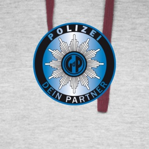 polizei symbol partner - Colorblock Hoodie