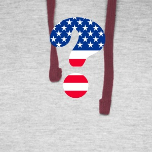 Flag Question Mark T-shirt - Colorblock Hoodie