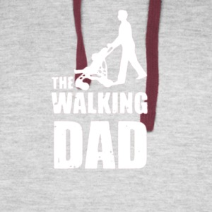 Fathers Day Gift The Walking Dad - Colorblock Hoodie
