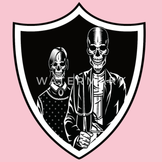 d128b9263785a The dead farmer pair for farmers or gothic style Baby Bib | Spreadshirt