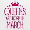 Queens Are Born In March - Baby Bib