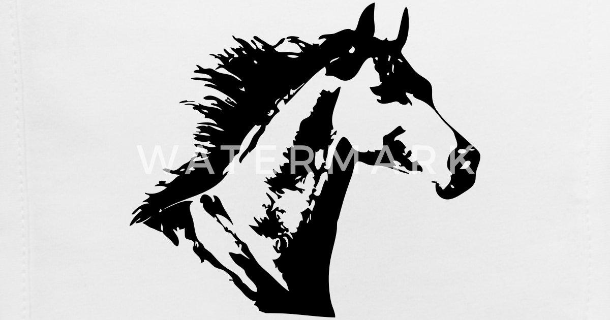 Beautiful Horse Head Baby Bib Spreadshirt
