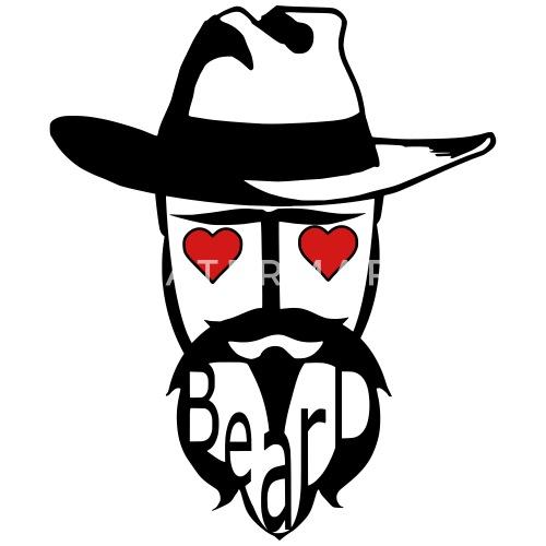 7605295dc3d I love beard hat man exclusive design art Baby Bib