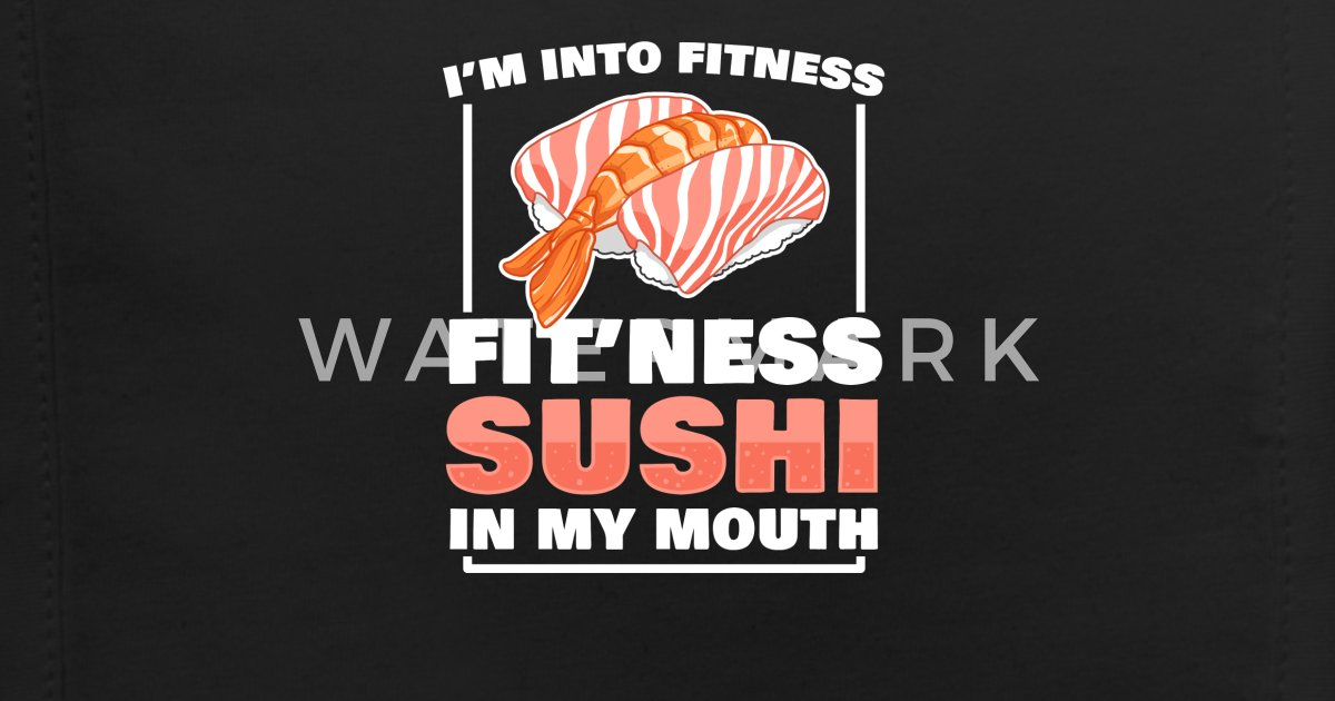 c75f21593d920 Funny Workout I'm Into Fitness Sushi Themed Gift Baby Bib | Spreadshirt
