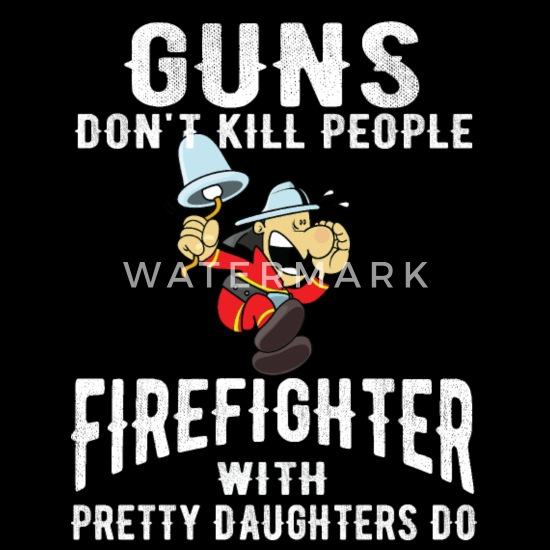 Father daughter firefighter firefighter Baby Bib | Spreadshirt