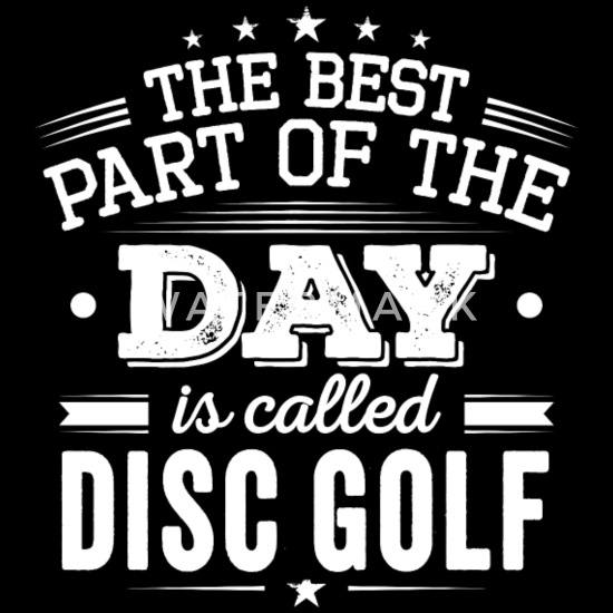 Best Part Of The Day Disc Golf Fan Quotes Fun Gift Baby Bib - black