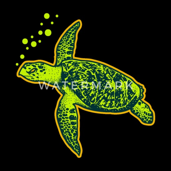 Cute Turtle Is Swimming Diving Sea Turtle Gift Baby Bib Spreadshirt