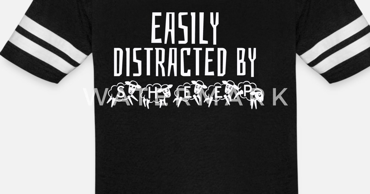 Easily Distracted By Sheep Unisex Vintage Sport T-Shirt
