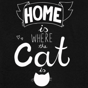 Home is where the Cat is cat - Vintage Sport T-Shirt