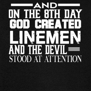 And On The 8th Day God Created Linemen T Shirt - Vintage Sport T-Shirt