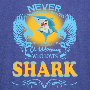 A Woman Who Love Shark - Vintage Sport T-Shirt