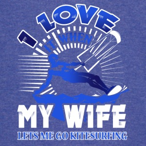 I Love When My Wife Lets Me Go Kitesurfing Shirt - Vintage Sport T-Shirt