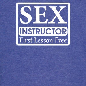 Sex Instructor First Free Lesson - Vintage Sport T-Shirt