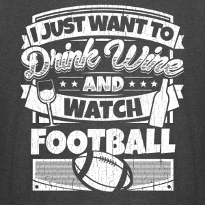 I just want to drink wine and watch football shirt - Vintage Sport T-Shirt