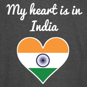 My Heart Is In India - Vintage Sport T-Shirt