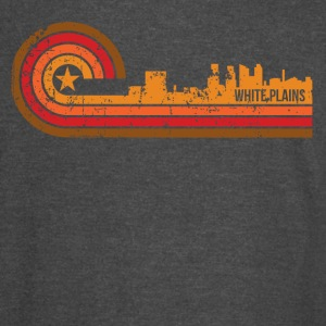 Retro Style White Plains New York Skyline - Vintage Sport T-Shirt