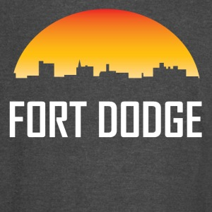 Fort Dodge Iowa Sunset Skyline - Vintage Sport T-Shirt