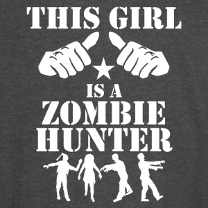 This Girl Is A Zombie Hunter - Vintage Sport T-Shirt
