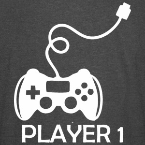 Player 1 Gamer Happy Fathers Day - Vintage Sport T-Shirt