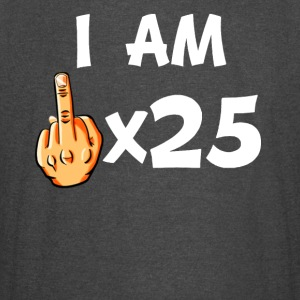Middle Finger Times 25 Funny 25th Birthday - Vintage Sport T-Shirt