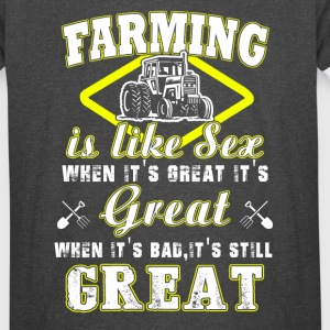 Farming is like sex T Shirts - Vintage Sport T-Shirt