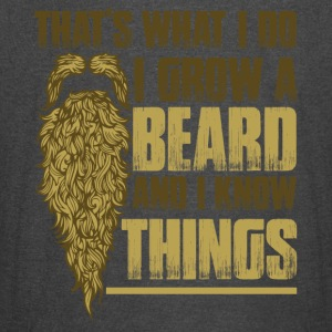 For Bearded Guys: I Grow Beard And I Know Things - Vintage Sport T-Shirt