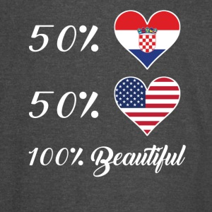 50% Croatian 50% American 100% Beautiful - Vintage Sport T-Shirt