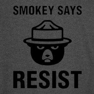 Smokey Says Resist - Vintage Sport T-Shirt