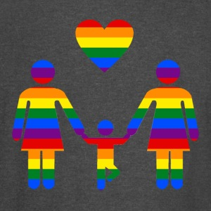 Rainbow Family lesbian family from Bent Sentiments - Vintage Sport T-Shirt