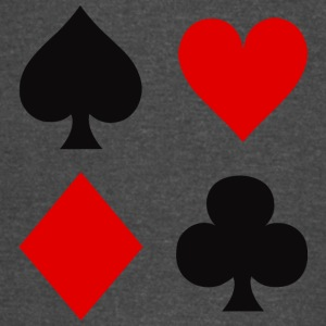 Playing Card Suits - Vintage Sport T-Shirt