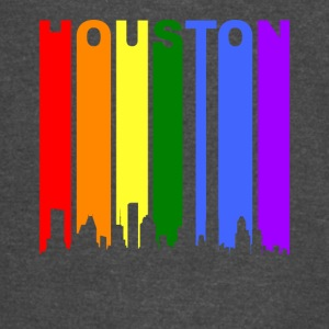Houston Texas Rainbow Skyline LGBT Gay Pride - Vintage Sport T-Shirt