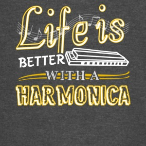 Life Is Better With Harmonica Shirt - Vintage Sport T-Shirt